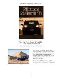 AutoSpeed - New Car Test - Nissan X-Trail Ti - Australian Nissan X ...