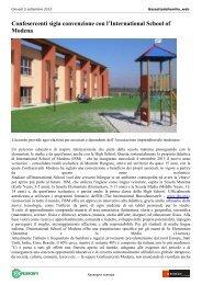 Confesercenti sigla convenzione con l'International School of Modena