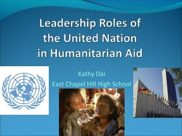 UN Leadership Roles in Humanitarian Aid - United Nations ...