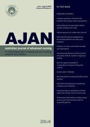 australian journal of advanced nursing