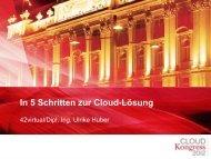 Cloud ante portas! - CLOUDkongress