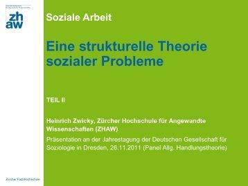 Eine strukturelle Theorie sozialer Probleme