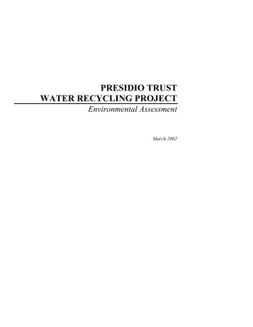 Presidio Trust Water Recycling Project Environmental Assessment