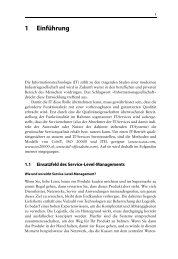 Management von Service Level Agreements