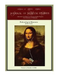 CLS Journal of Museum Studies, Vol. 1, No. 1. (2006)
