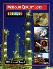 2012 Annual Report - Missouri Department of Economic Development