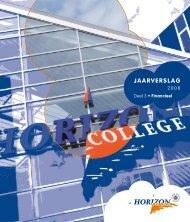 Jaarverslag 2008 deel 3 (Financiën) - Horizon College