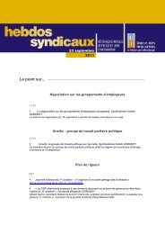 les Hebdos syndicaux du 23 septembre 2011