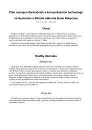 ICT plán školy 2009/2010 (PDF) - Gymnázium a Střední odborná škola