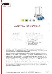 ANALYTICAL BALANCES AS - Vetek Scales
