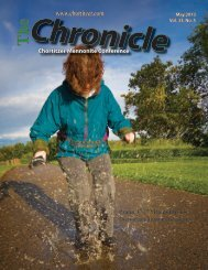 Chronicle May 2013 - Chortitzer Mennonite Conference
