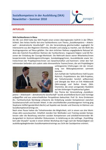 3. SKA-Newsletter - Sommer 2010 - Netzwerk für Demokratie und ...