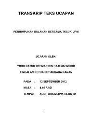 Perhimpunan Bulanan bersama YBhg. TKSUK bulan September 2012