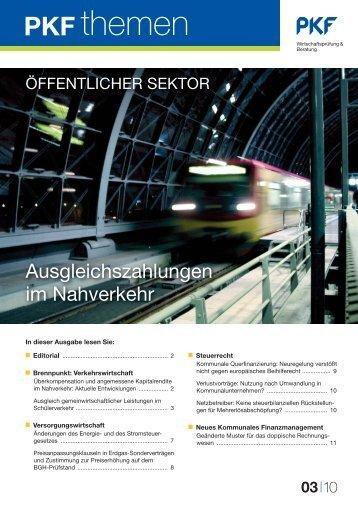 Heft 3 09/2010 Ausgleichszahlungen im öffentlichen Nahverkehr