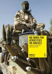 Arms Trade Treaty Campaign Briefing - Amnesty International