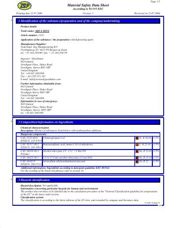 Material Safety Data Sheet - Sgiindustries.com