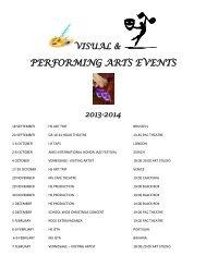 PERFORMING ARTS EVENTS - St. John's International School