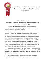 COMUNICAT DE PRESA Victor Hănescu: sunt convins că vom avea ...