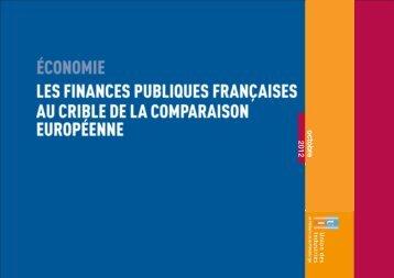 """Economie """"Les finances publiques françaises au crible de la ... - UIMM"""
