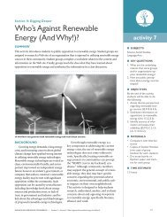 Who's Against Renewable Energy (And Why!)?