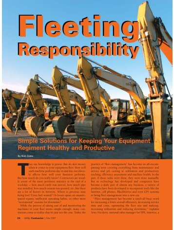 Feature Story - Utility Contractor Magazine
