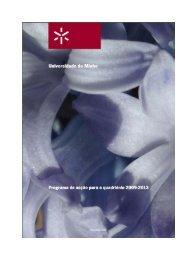 Programa de Acção para o Quadriénio 2009-2013- Universidade do ...