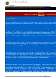 DPPM-UMM So far, the role of higher education ... - Sentra HKI
