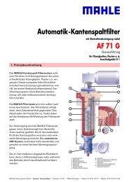 AF 71 G Automatik-Kantenspaltfilter - BIBUS