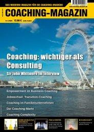 interVieW mit sir John Whitmore - Iris Wieg, Praxis für ...