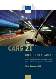 CARS 21 High Level Group - European Commission - Europa