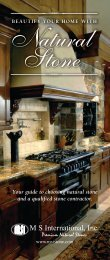 Your guide to choosing natural stone and a qualified stone contractor.