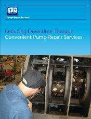 pump repair services brochure - front - Weir Oil & Gas Division