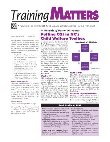 Continued from page 1 - Training Matters