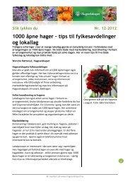 1000 åpne hager – tips til fylkesavdelinger og ... - Hageselskapet