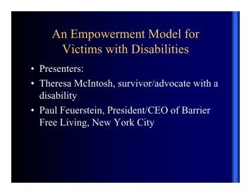 An Empowerment Model for An Empowerment Model for Victims ...