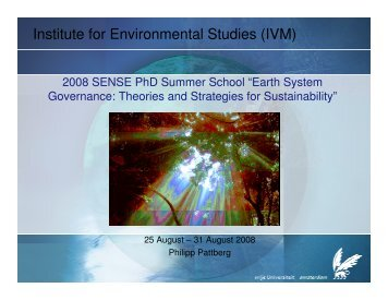 Institute for Environmental Studies (IVM) - The Global Governance ...