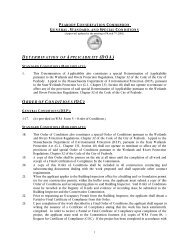 Standard Project Permit Conditions - City of Peabody