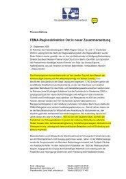 FBMA-Regionaldirektion Ost in neuer Zusammensetzung - Gemax