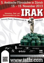 Flyer - international arab film festival zurich/iaffz