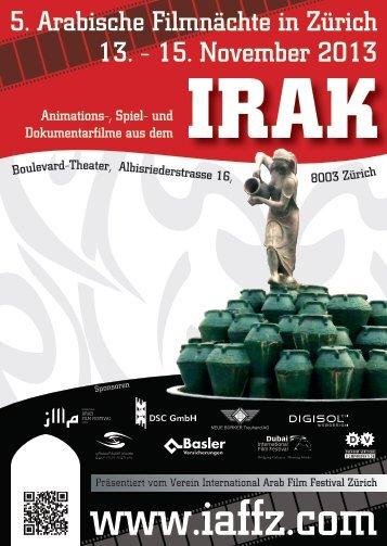 Flyer - international arab film festival zurich/iaffz