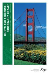 ob/gyn and abdominal sonography update - UCSF Department of ...