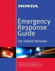 Honda Hybrid Vehicle ERG - Emergency Training Solutions, LLC