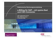 e-Billing für SAP – mit xyzmo-Seal und CSC-Connector