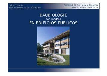 BAUBIOLOGIE EN EDIFICIOS PÚBLICOS