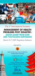 Management of Health Problems Post Disaster