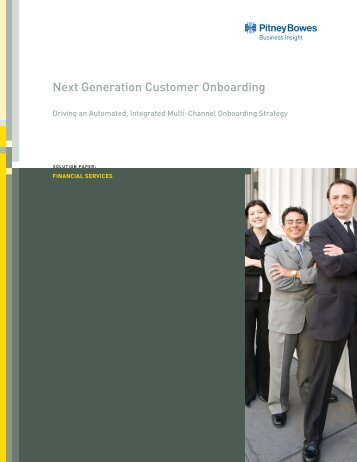 White Paper - Next Generation Customer Onboarding - Pitney Bowes