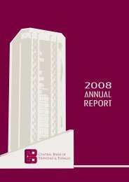 2008 ANNUAL REPORT - Central Bank of Trinidad and Tobago