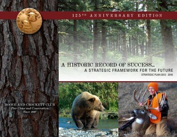 to download a PDF of the strategic plan - Boone and Crockett Club