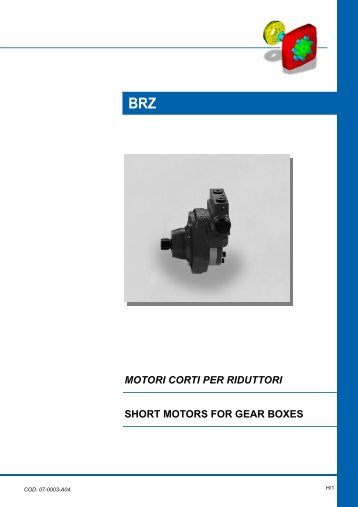 motori corti per riduttori short motors for gear boxes brz