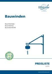 Bauwinden - Albert Böcker GmbH & Co. KG